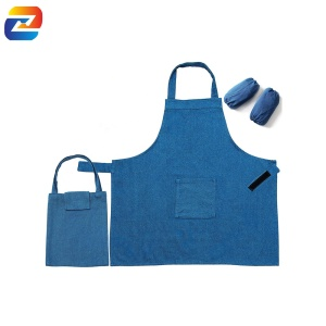 Kids Apron for Girls Boys with Arm Sleeves Storage Bag for Cooking Baking Art Painting Adjustable Fit Machine Washable