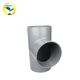 Equal Diameter 110mm PVC Equal Tee Plumbing Pipe Fitting Elbow Tee