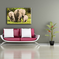 Wholesale elephant decorative home goods wall artwork canvas painting