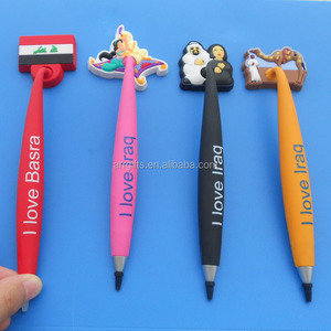 Soft PVC Magnetic Pen Office Accesseries PVC Ballpoint Pen National Day Gift pen
