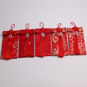 Halloween Brocade embroidery custom red envelopes with Chinese characteristics the icing on the cake