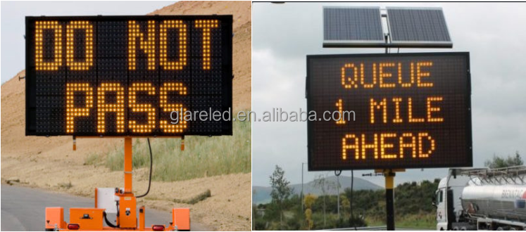 Portable Variable Message Signs P20 LED Traffic Module from Glare Factory