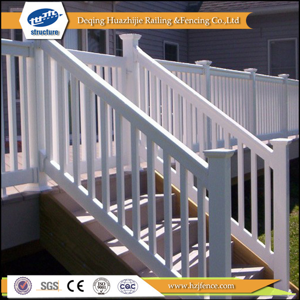 Pas cher en plastique pvc rampe d 39 escalier cl tures for Escalier exterieur plastique