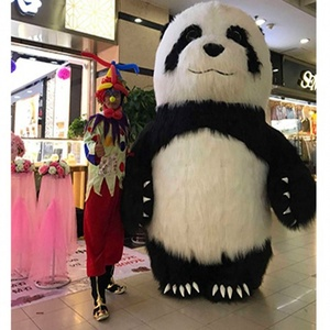 advertising wholesale inflatable panda plush costume for adult party event