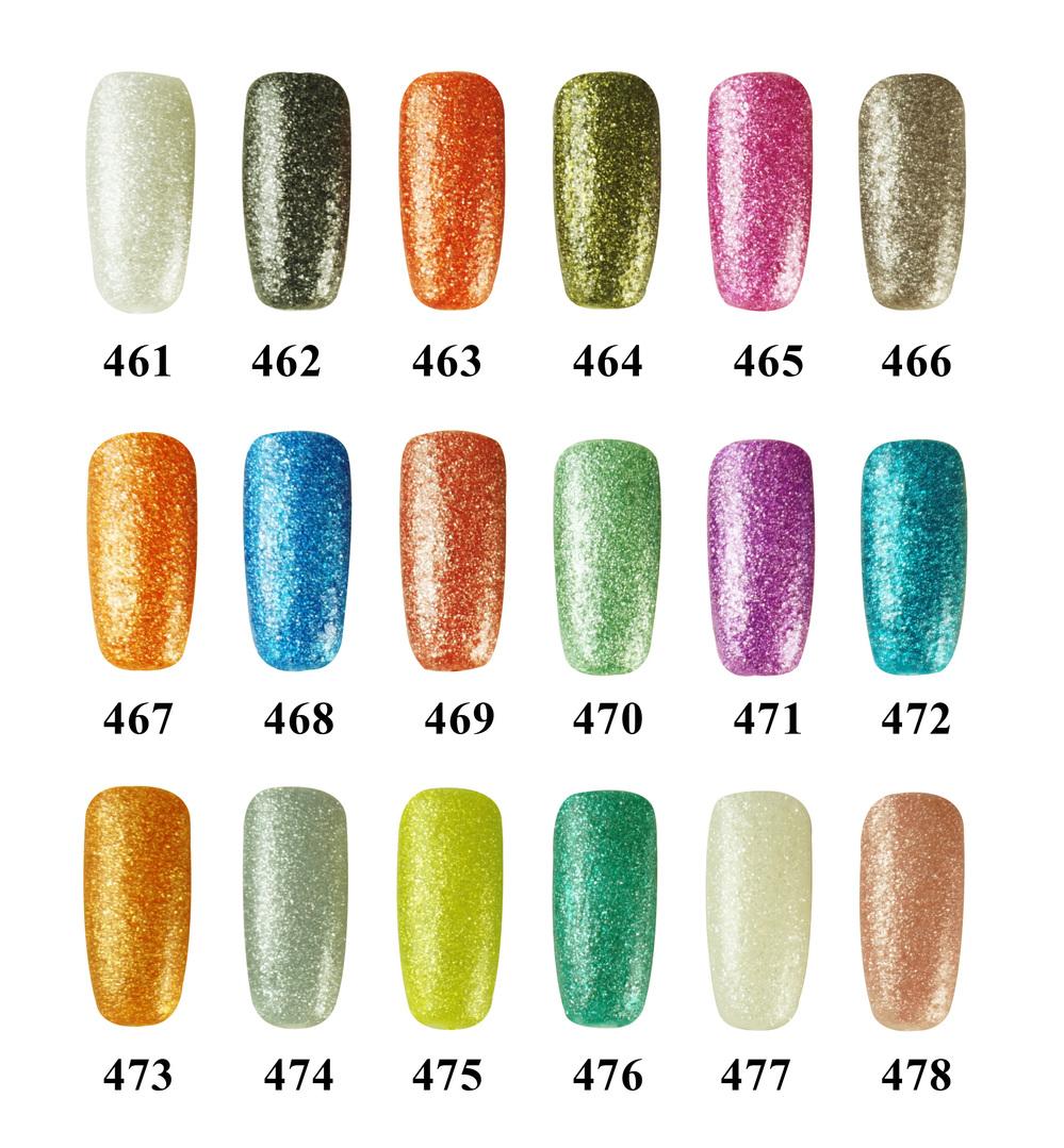 18 Colors Gelily 10ml Crystal Sand Gel Soak Off Gel Polish Jessica ...