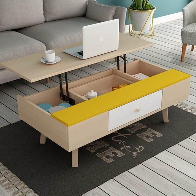 Spot On Dealz Oak Finish Wooden Lift Up Coffee Table Living Room