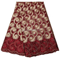 Latest Wholesale Nigeria African Cotton Embroidery Swiss Voile Lace XZ980B