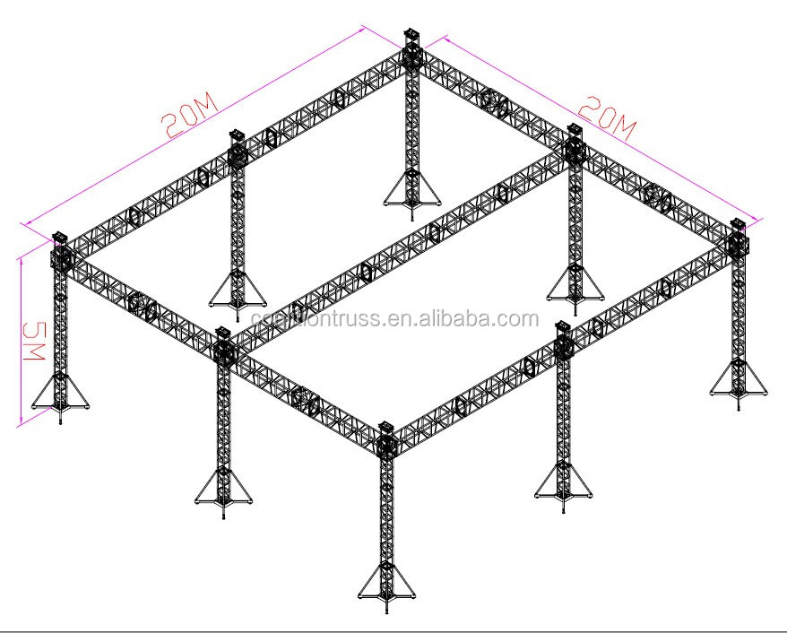 Outdoor Stage Roof Truss Circle Stage Roof Stage Roof