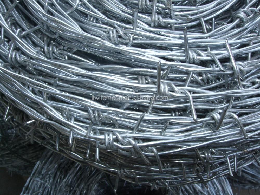 20kg/coil 15kg/coil 12 Gauge X 14 Gauge Gi Barbed Iron Wire/barb ...
