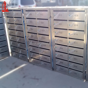 Wall Mounted Mailboxes Stand Security letter box Business Stainless Steel Mailboxes