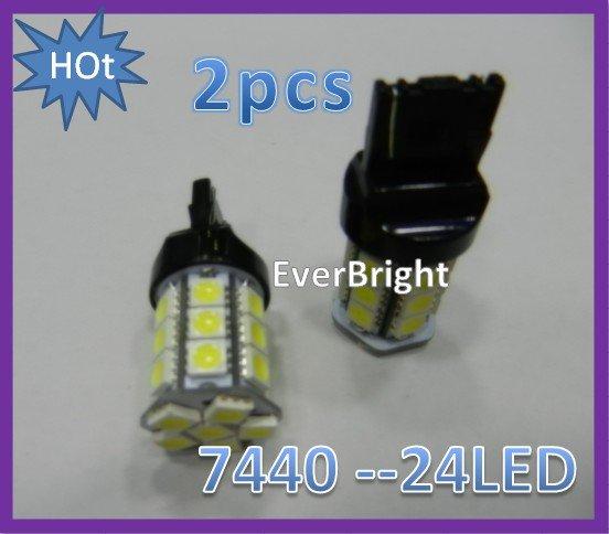 2 шт. 24LED автомобиль лёгкие резервного копирования лёгкие стоп лампа лёгкие лампа 7440 T20 задняя часть / указатель поворотов