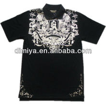 custom man's/ lady's polo t-shirt with full printing logo