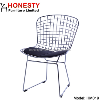 HM019 Wholesale Very Cheap Mid Century Modern Metal Home Living Room  Furniture Harry Bertoia Wire Chair