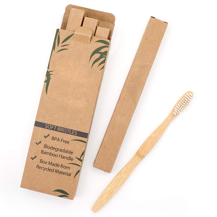 Wholesale bpa free custom eco friendly organic bamboo toothbrush charcoal case private label holder bamboo toothbrush with logo