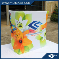 Hard case with counter for pop up banner display