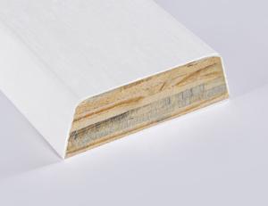 Gesso Coated LVL Baseboard Molding Primed Baseboard Moulding