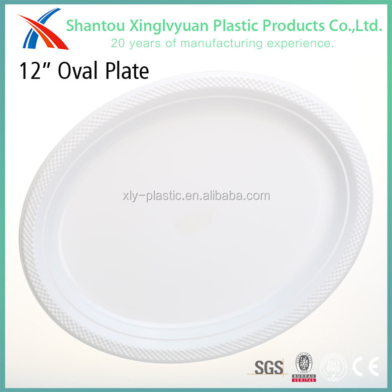 Wholesale Oval Shaped White Disposable Plastic Plates - Buy ...