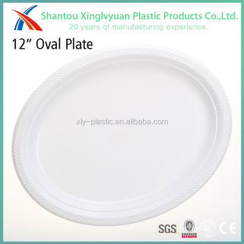 Wholesale oval shaped white disposable plastic plates, View ...