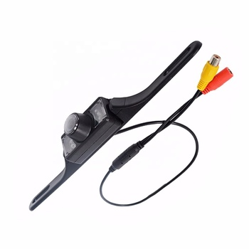 Waterproof High Definition Color Wide Viewing Angle License Plate Car Rear View Camera with 7 Infrared Night Vision LED