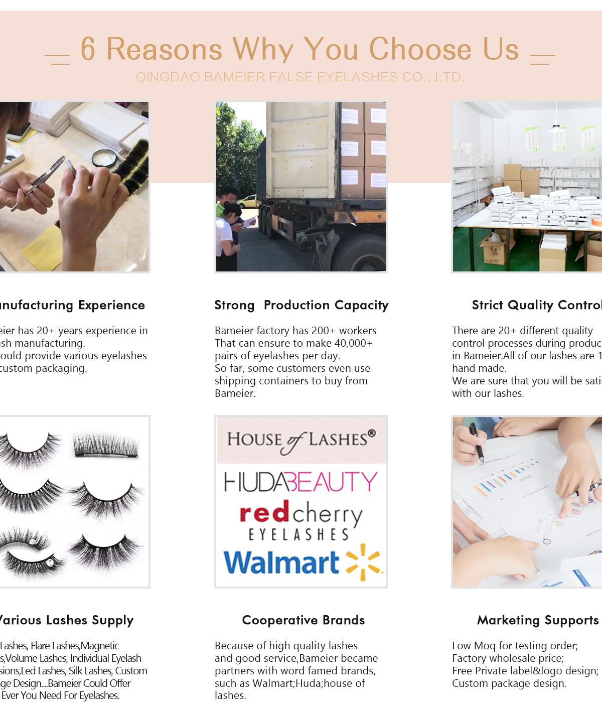 Qingdao Bameier False Eyelashes Co , Ltd  - Mink Eyelashes