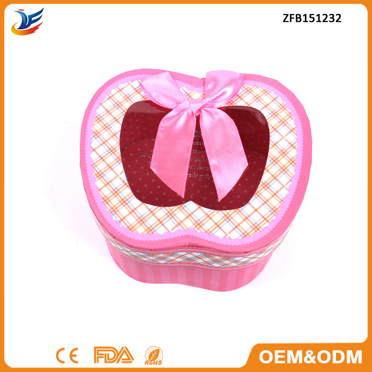 wholesale apple shape christmas chocolate candy gift paper box
