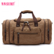 High-grade vintage men's canvas duffel bag overnight bag shoulder travel duffel bag