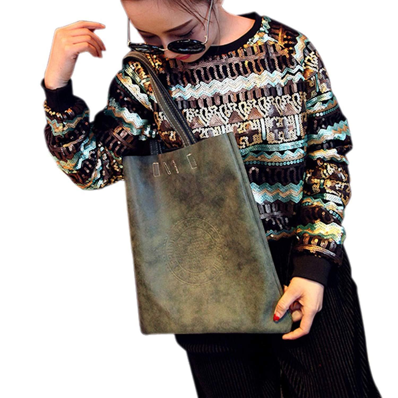 Get Quotations · Bao Core BXT Womens Vintage Big Capacity Casual Dull  Polish PU Leather Satchel Handbag Shoulder Bag fdce4fa94e315