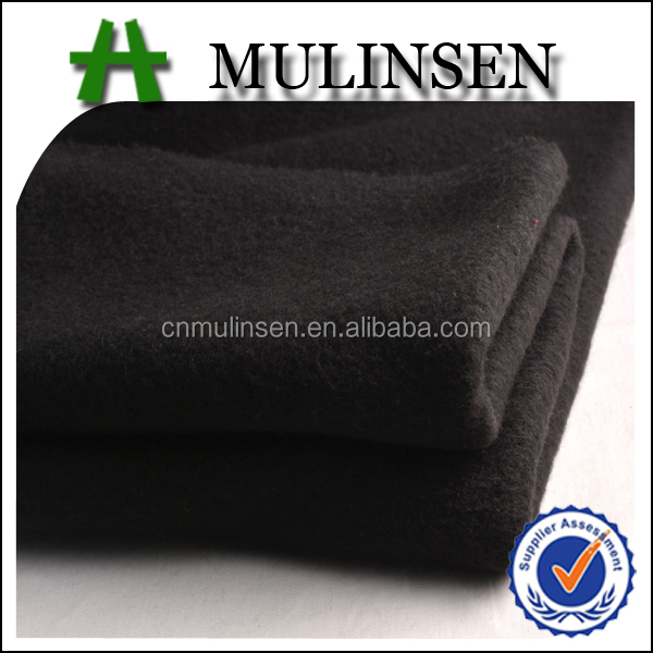 Mulinsen Textile Knit Poly DTY Brush Thick Fleece 100 Polyester Tricot Brushed Fabric For Winter Garment