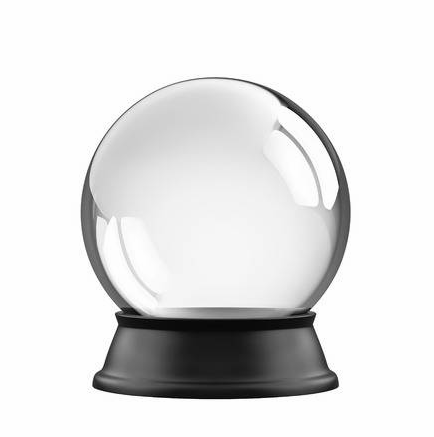 Zwarte basis crystal ball glas lege sneeuwbol
