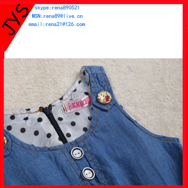 European New Style Junior Girls Long Blue Jean Skirts Fashion Denim Dress Women Jeans