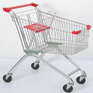 60L professional supermarket shopping cart trolley
