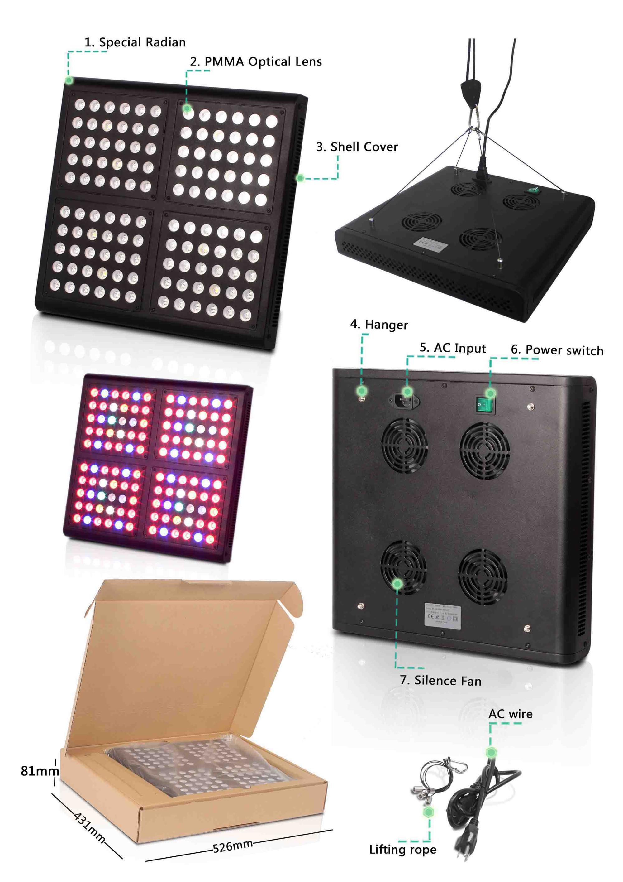 Herifi 400W best for 3X3ft lighting area Agricultural Greenhouses Type hydroponic grow light