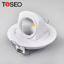 360 degree recessed led cob Trunk lamp gimble downlights
