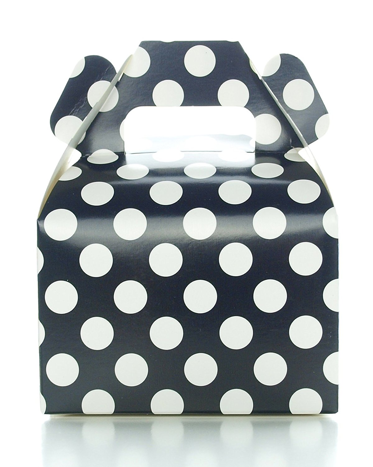 Buy Party Favor Candy Boxes, Black Polka Dot (12 Pack) - Black Candy ...