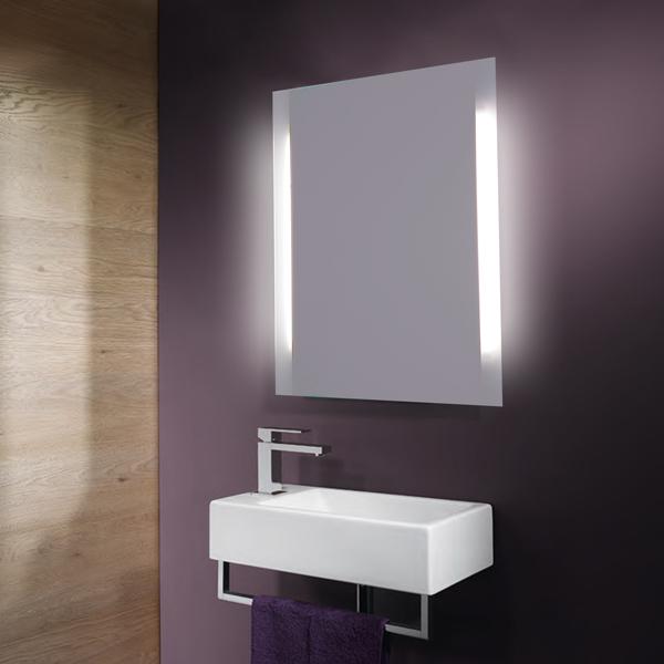 baños moderno espejo retroiluminado MLM025B-7050FL-Espejos de Baño ...