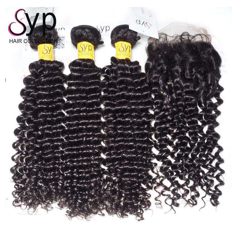 Duby Curling Weave Malaysian Human Hair With Elastic Band Frontal