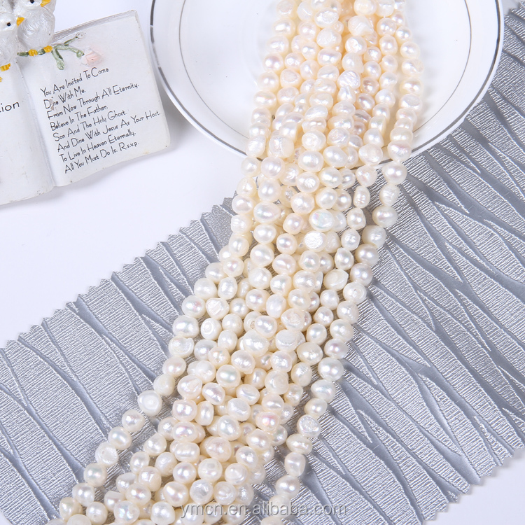 6-7mm high quality baroque loose pearls loose freshwater pearl strand