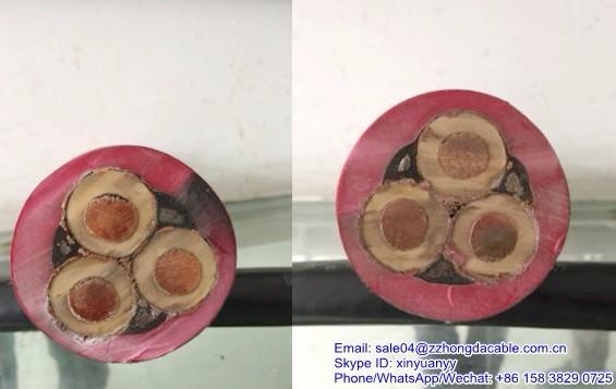 8.7 / 15kV 3 X 35 + 3 X 16 / 3 + 3 X 2.5 N3GHSSYCY MV Rubber Cable. Hongda  House Wiring Electrical ...