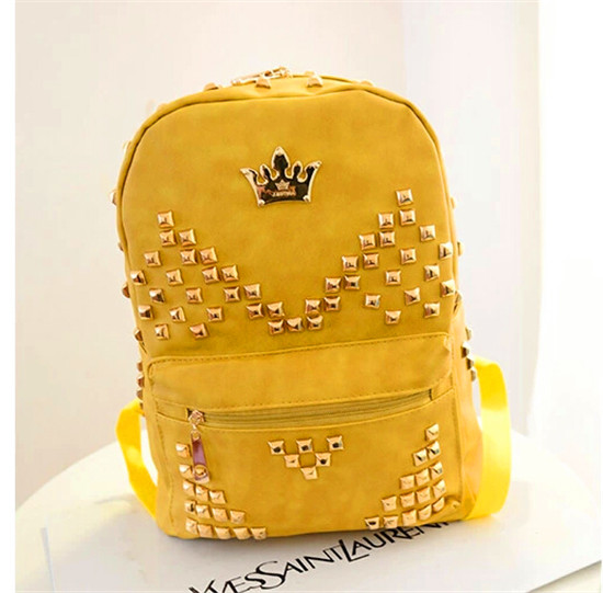 Trendy leather school bags for teenage girls cheap cool backpacks ...