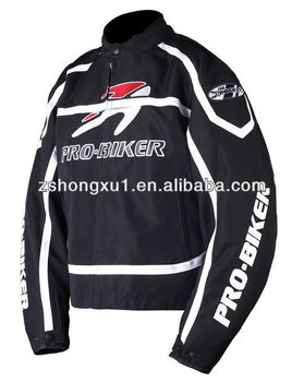 Black protective motorbike Jacket jacket for motorcycle with protections