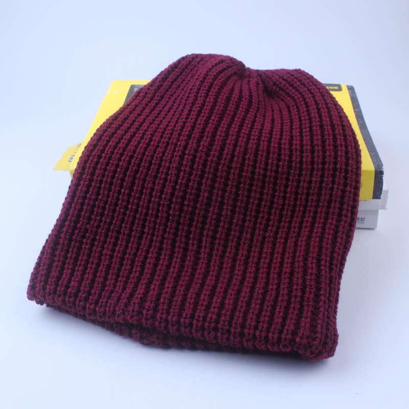 0710f9903f5 Cuhakci 2017 Winter Beanies Hat Plain Warm Knitted Super Soft Caps Beanie  Unisex Caps Acrylic Hats 6 Color - Buy Beanie Caps