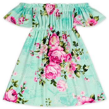 34570716924c Pink Flower Mint Green Dress Names Of Girls Dresses Casual Frock Design  Pictures