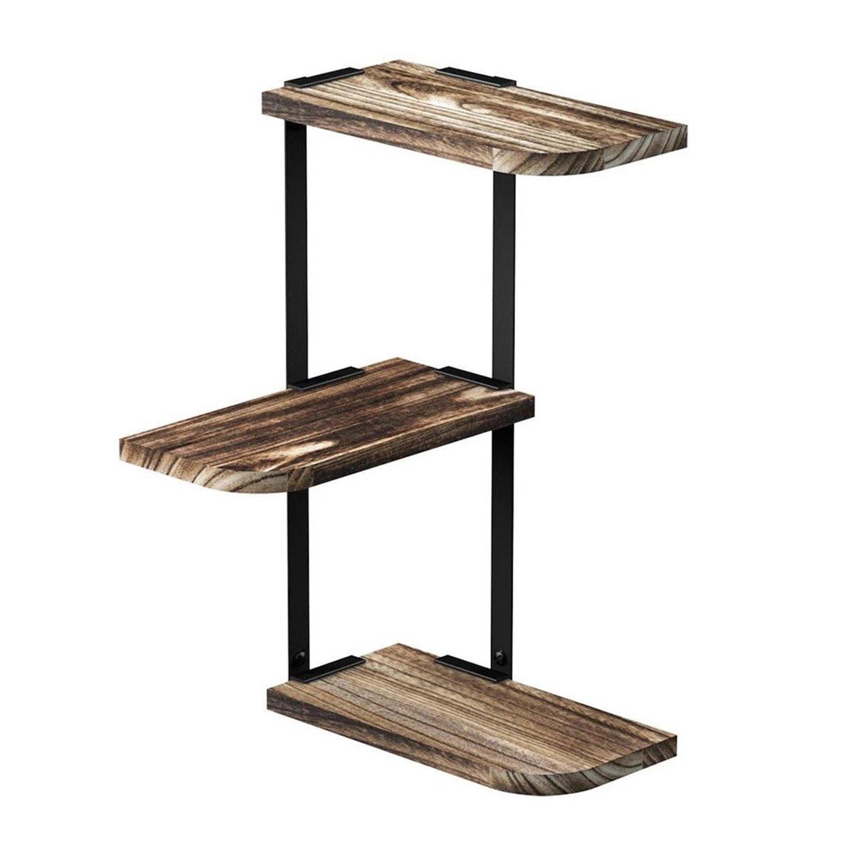 Buy Warm Van Retro 3 Layer Solid Wood Partition Bookcase