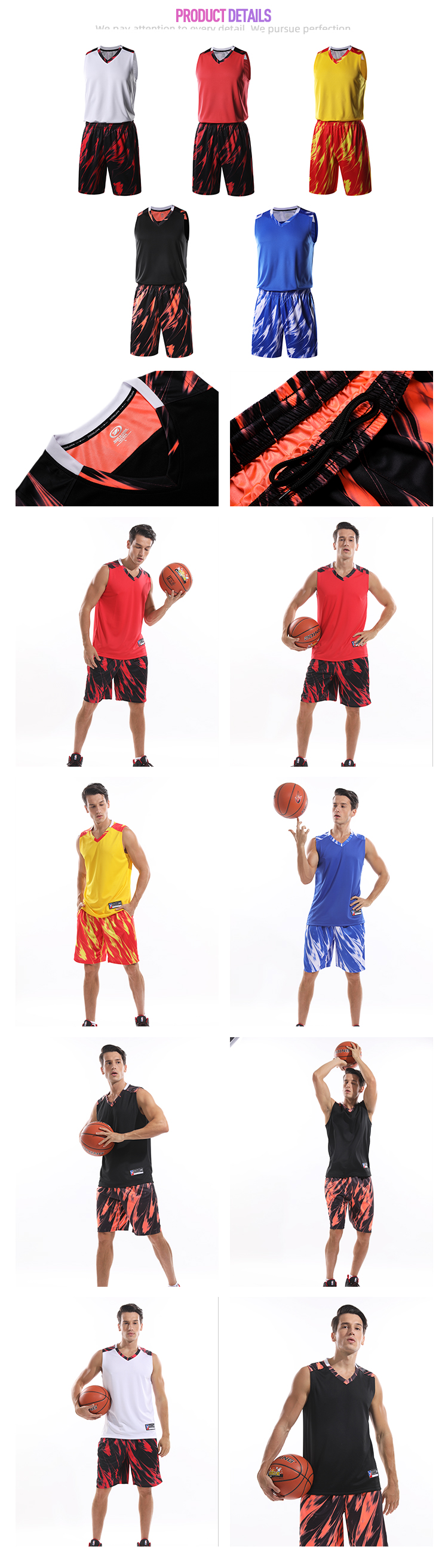 Aktive tragen korb ball kleidung set sublimation druck basketball jersey outfits
