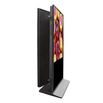 "49"" Dual screen commercial floor stand advertising equipment USB standalone indoor AD player digital signage"
