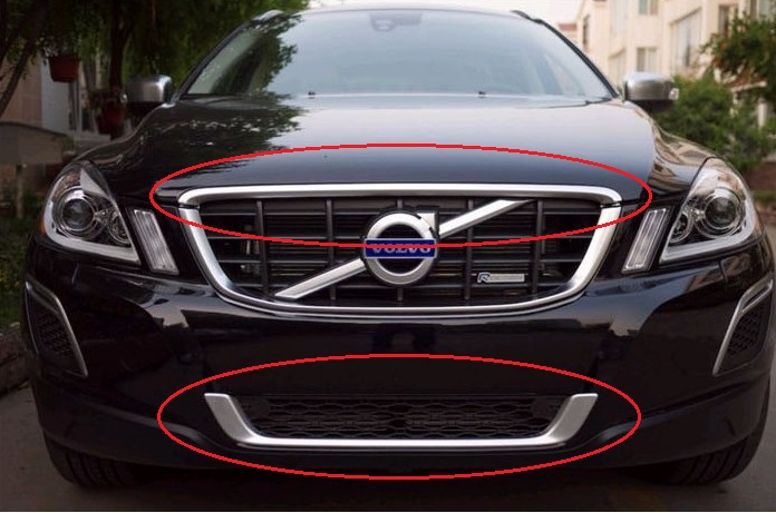 volvo xc60 grille chrome trim moulding volvo xc60 accessoires onderdelen buy product on. Black Bedroom Furniture Sets. Home Design Ideas