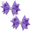 Baby boutique fashion girls 3'' hair bows alligator clip lowes with jewels