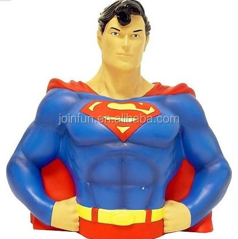 "custom SUPERMAN BUST BANK 8"" GREAT GIFT MONEY BOX"