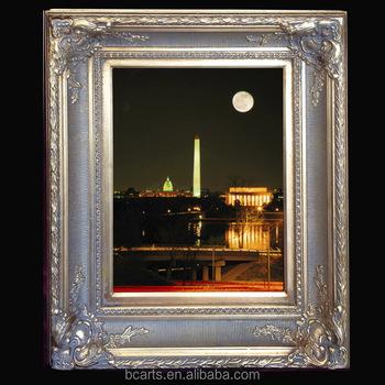 32 Inch Large Size Digital Photo Frame With Complex Corner Design