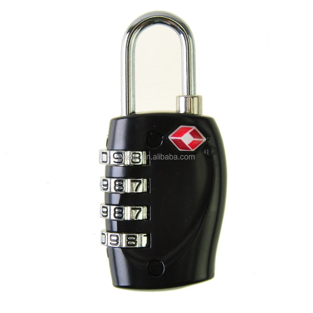 Christmas Gift Cheap Black Safe Professional Luggage 4 Digital Combination TSA Code Lock Padlock